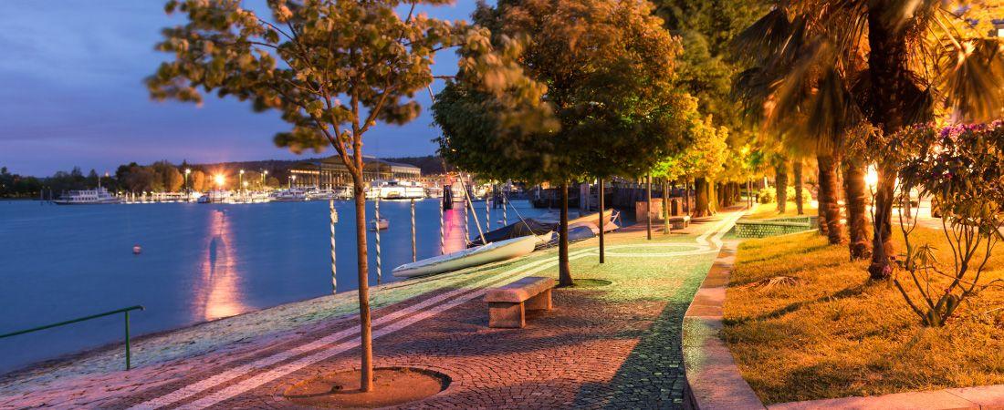 arona tourist town on lake maggiore headquarters of the domains